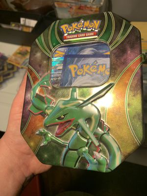 Tin full of pokemon cards, includes rare cards for Sale in Tacoma, WA