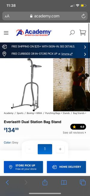 Sport / gym / exercise *Dual station bag stand* for Sale in La Vergne, TN