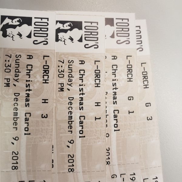 4 tickets to Christmas Carol @ Fords Theatre
