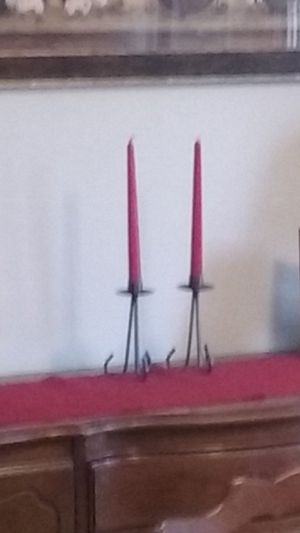 Pair of rod iron candle stick holders for Sale in Atkinson, NH