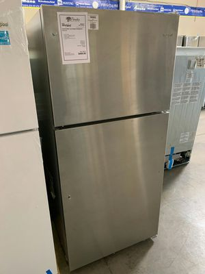 New Whirlpool Stainless Steel 18 CuFt Top Freezer Refrigerator,,1 Year Manufacturer Warranty Included for Sale in Gilbert, AZ
