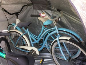 Blue beach cruiser bike (darker seat)- MUST GO TMRW! for Sale in Tampa, FL
