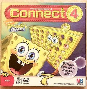 Connect 4 Spongebob Squarepants edition board game for Sale in South Jordan, UT