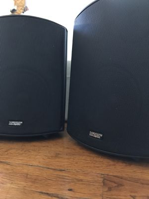 2 Earthquake all weather indoor outdoor speakers with amplifier and microphones for Sale in San Diego, CA