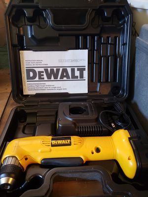 Dewalt right angel drill has small crack as shown in picture for Sale in Washington, PA