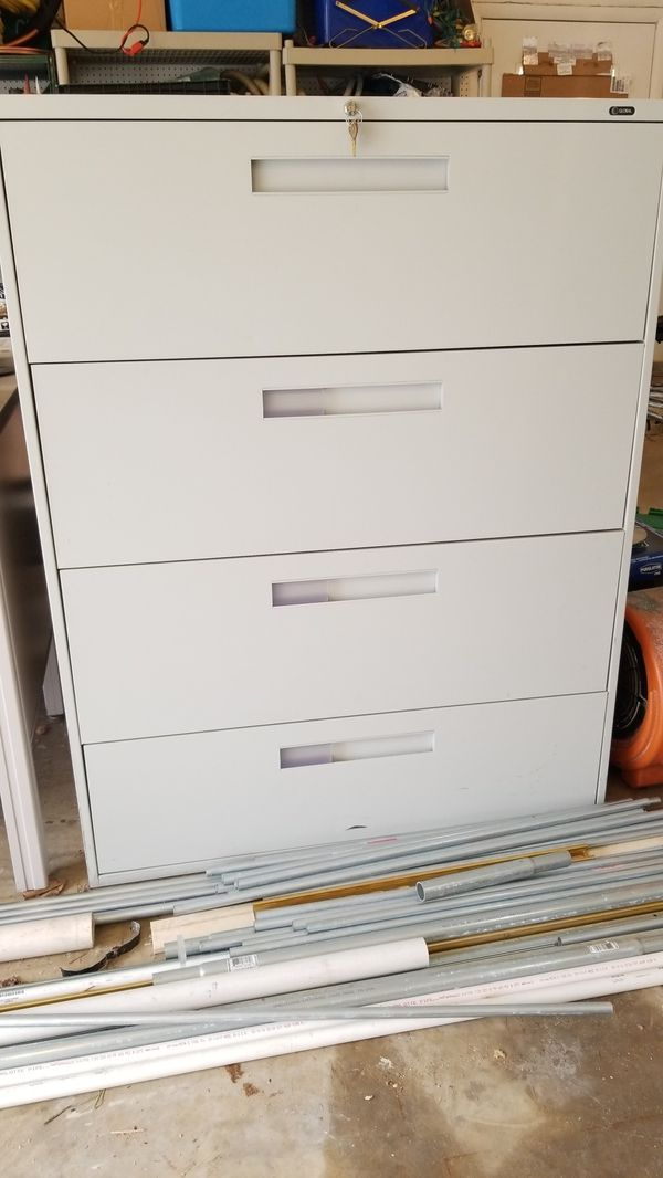 Global filing cabinet with key