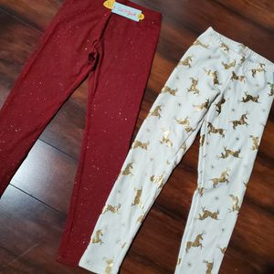 NEW girls Burgundy Glitter Pants And Leggings Size L 10/12 for Sale in Los Angeles, CA