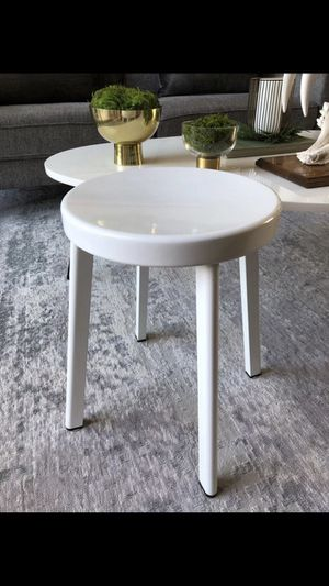 Safavieh Indus White Metal Enamel Stool • Works as Plant Stand for Sale in San Diego, CA