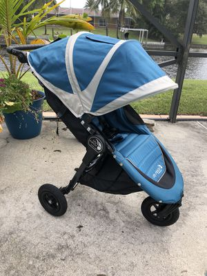 Teal Baby Jogger City Mini GT Stroller for Sale in West Palm Beach, FL