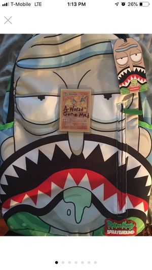 Limited edition sprayground Comic-Con Rick and Morty backpack for Sale in Fairfax, VA