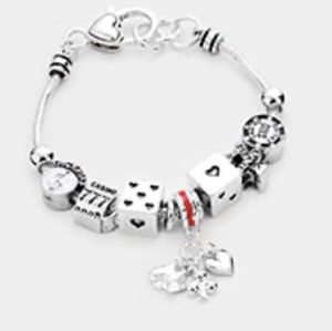 Silver Dice Charm Bracelet for Sale in Baltimore, MD