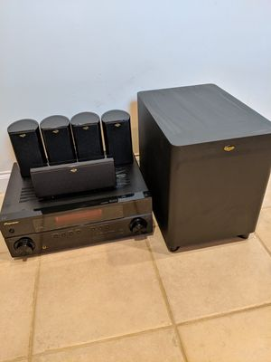 Pioneer receiver and Klipsch surround sound speakers for Sale in New York, NY