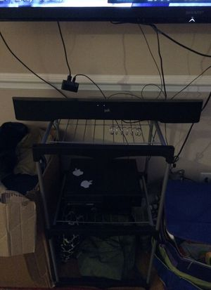 POLK AUDIO SURROUND SOUND WITH ALL CABLES for Sale in Norridge, IL