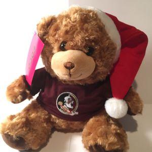 Florida State Seminoles Christmas Santa Hat Plush Bear NWT Foco for Sale in Winter Park, FL