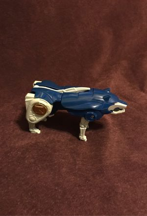 1995 Bandai Power Rangers Blue Wolf Dog Zord Figure Toy for Sale in Nolanville, TX