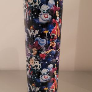 Disney villains Maleficent Cruella Ursula 20 oz double walled stainless steel tumbler cup for Sale in Moreno Valley, CA