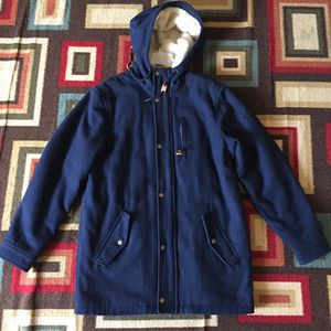 Old Navy Trench Wool Sherpa Hoodie Lined Jacket for Sale in Long Beach, CA