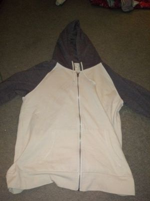 Light Brown and White Hoodie Zip Up Jacket for Sale in Las Vegas, NV