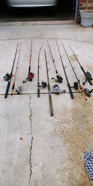 Fishing Rods and Reels $30 ea. Negotiable for Sale in Bladensburg, MD