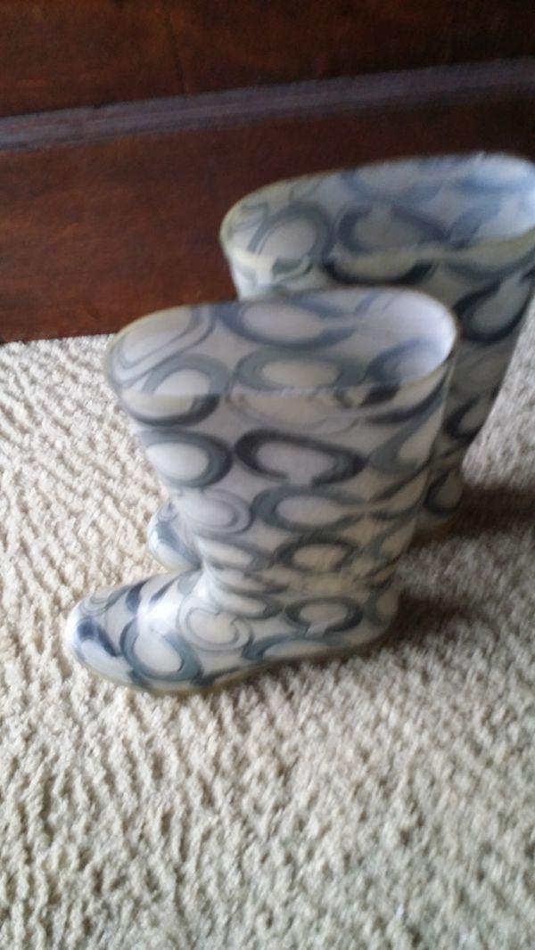 COACH Rainboots Size6