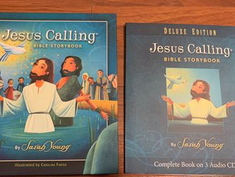 Jesus Calling Bible Storybook By Sarah Young Hardcover With 3 Audio CDs NEW for Sale in Boca Raton,  FL