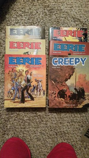 16 EERIE & 1 CREEPY Dark horse Archives graphic novel hardback books for Sale in Tacoma, WA