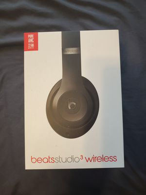 Beats by Dre Studio 3 Wireless Headphones Matte Black (Sealed) for Sale in Downey, CA