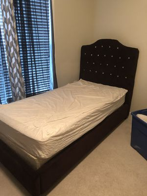 Twin velvet upholstery bed. ***mattress not included for Sale in Arlington, VA
