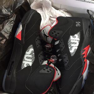 Supreme Jordan Retro 5 black/ Sz 10 for Sale in Stone Mountain, GA