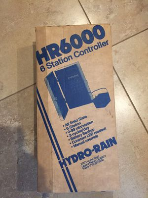 Hydro-Rain HR6000 6 Station Sprinkler Controller for Sale in Chula Vista, CA