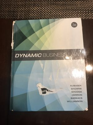 Dynamic business law third edition for Sale in Cleveland, OH