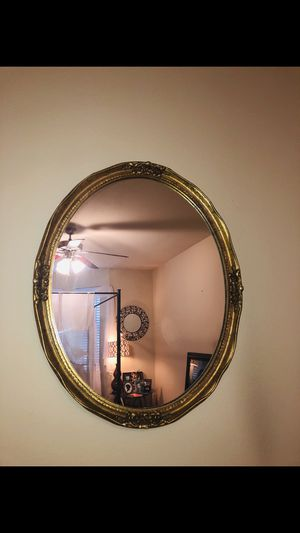 Gold oval mirror for Sale in The Colony, TX