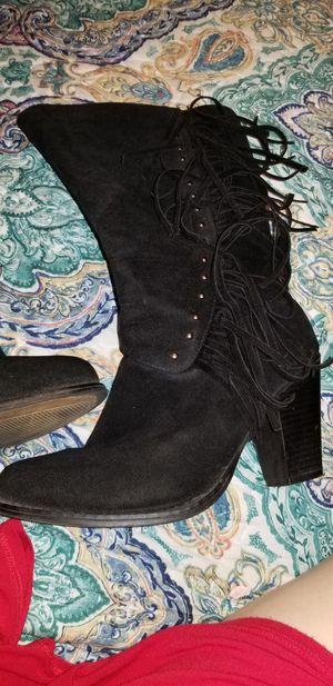 Black fringe boots for Sale in Lake Alfred, FL
