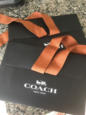 2 coach gift bags great to put small wallet cash or something cute keychain small handbag satchel skinny small bag for Sale in Orlando, FL