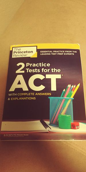 ACT practice tests book for Sale in Fulton, MO