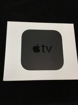 Black Apple TV 4K 5th Generation (with box, remote and accessories). for Sale in San Antonio, TX