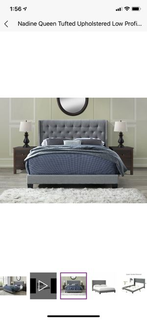 Brand new! Queen size bed with upholstered headboard for Sale in Frederick, MD
