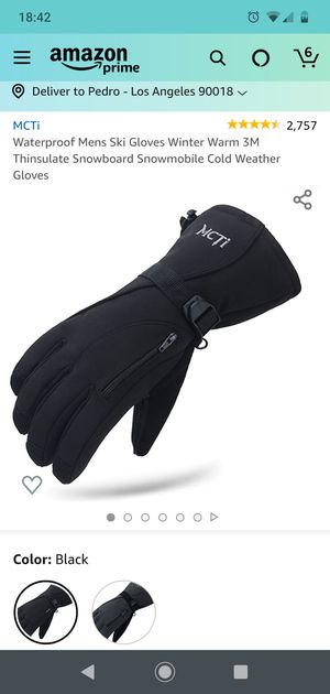 Waterproof Mens Ski Gloves Winter Warm 3M Thinsulate Snowboard Snowmobile Cold Weather Gloves for Sale in Los Angeles, CA