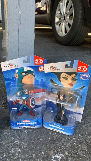 Captain America and maleficent Disney infinity 2.0 edition for Sale in Seattle, WA