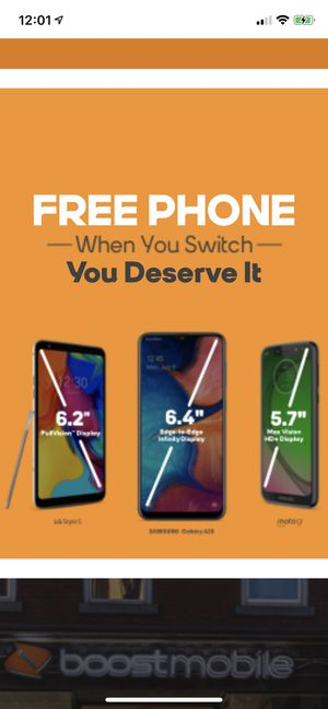 Free Phone when you switch to Boost Mobile! for Sale in Fort Leonard Wood, MO