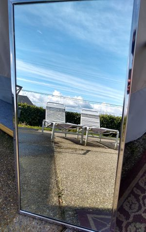 "Mirror - 36""x18"" with wall mount bracket, chrome frame, heavy duty! 1 available! for Sale in Port Orchard, WA"