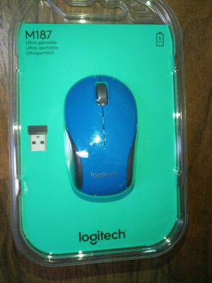 Logitech M187 Mini Wireless Mouse Blue New for Sale in Las Vegas, NV