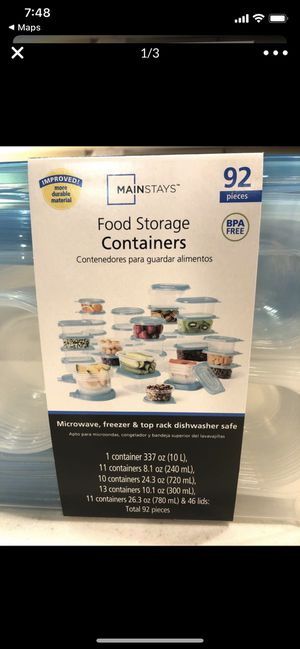 Food storage plastic containers (brand new in package!) for Sale in Long Beach, CA