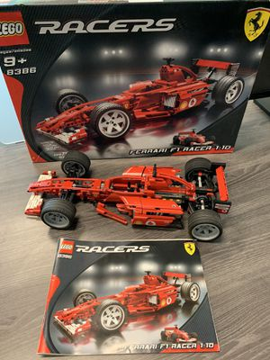 Collectible Ferrari LEGO F1 Racer 8386 1:10 scale 100% Complete with original box and instructions booklet for Sale in Seattle, WA