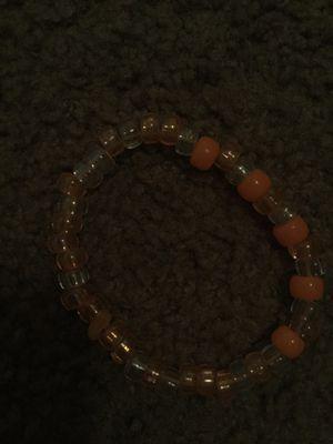 orange bracelet☺️ I sell more bracelets I live in Atlanta for Sale in Riverdale, GA