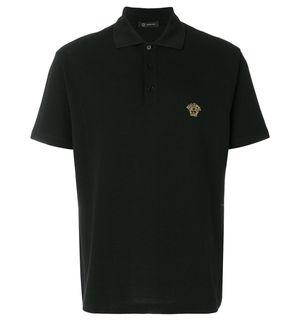 Versace Embroidered Medusa Polo Shirt Gold logo for Sale in Fairfax, VA
