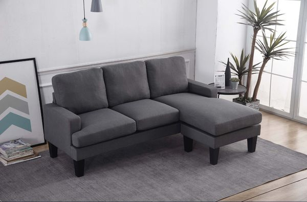 Brand New Fabric Basic Sectional