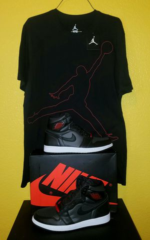 Nike Air Retro Jordan 1's with matching Jordan Shirt for Sale in Fort Worth, TX