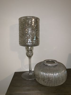 """12.5"""" tall. Two tea candle holders. Glass for Sale in Nashville, TN"""