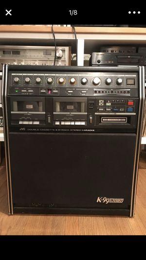 JVC K-99 Stereo boombox karaoke machine w  cassette 8track mic and effects! 3eadbf0bd7403